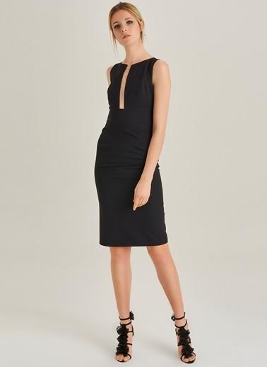 Tül Detaylı Elbise-People By Fabrika